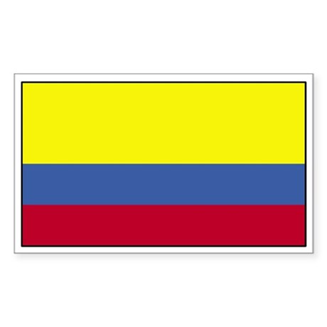 colombia flag coloring page - colombia flag decal rectangle decal by tshirtsstickers