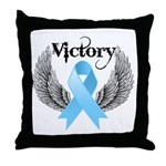 Victory Prostate Cancer Throw Pillow