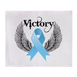 Victory Prostate Cancer Throw Blanket