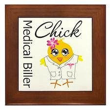 Medical Biller Chick Framed Tile