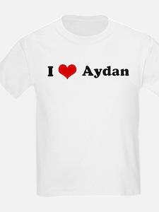 I Love Aydan Kids T-Shirt