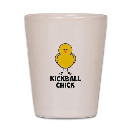 Kickball Chick Shot Glass