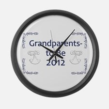 Grandparents-to-Be 2012 Large Wall Clock