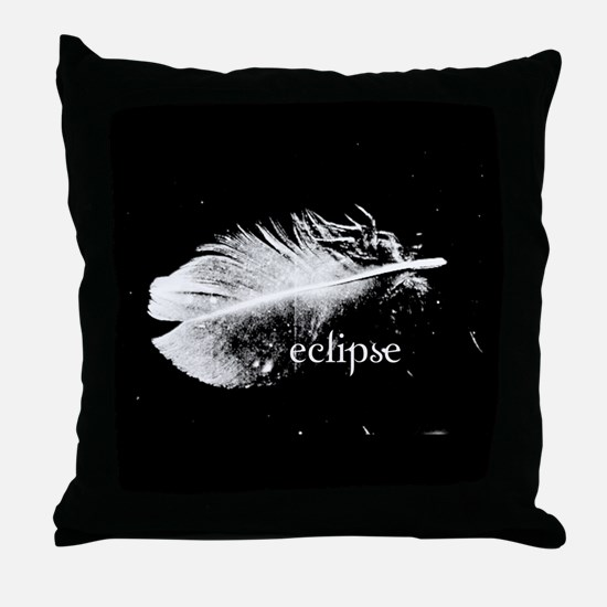 Eclipse Feather PIllow by Twibaby Throw Pillow
