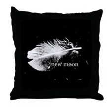 New Moon Feather Pillow by Twibaby Throw Pillow