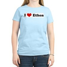I Love Ethen Women's Pink T-Shirt