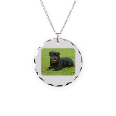 Rottweiler 9W025D-046 Necklace Circle Charm