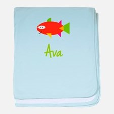 Ava is a Big Fish baby blanket