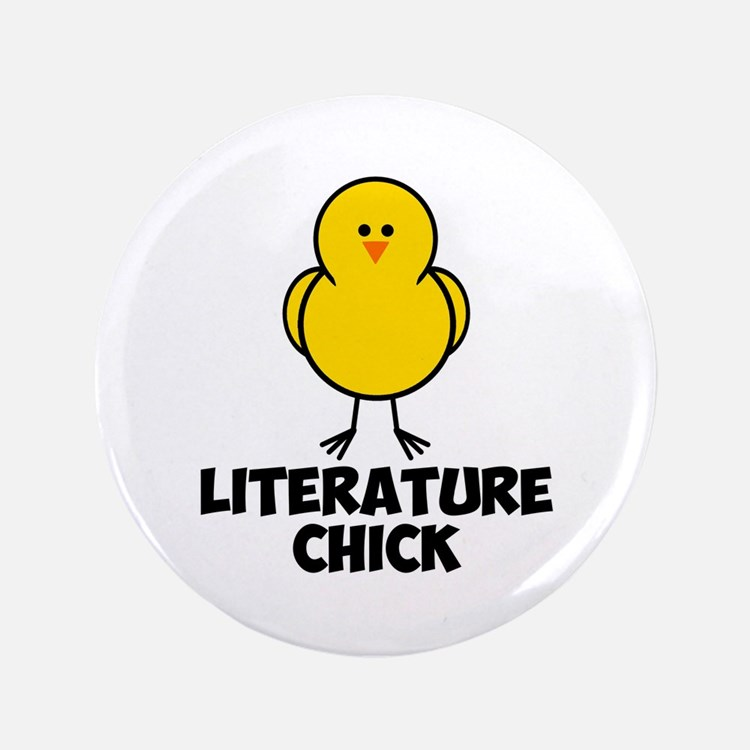 "Literature Chick 3.5"" Button"