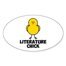 Literature Chick Decal