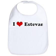I Love Estevan Bib