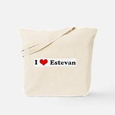 I Love Estevan Tote Bag
