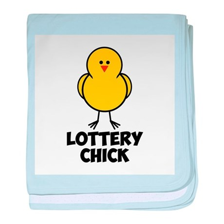 Lottery Chick baby blanket