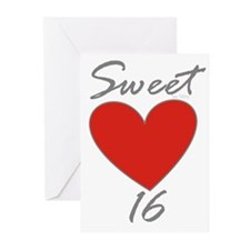 Sweet 16 in RED Greeting Cards (Pk of 10)