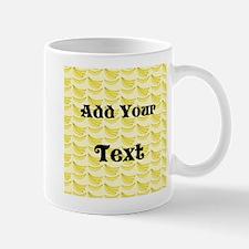 Banana Pattern with Custom Te Small Small Mug