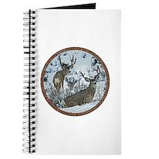 Buck deer in snow Journal