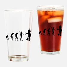 Robot Evolution Go Back Drinking Glass