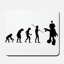 Robot Evolution Go Back Mousepad