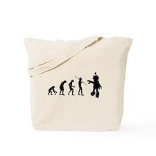 Robot Evolution Go Back Tote Bag
