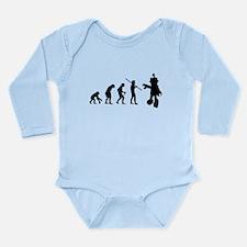 Robot Evolution Go Back Long Sleeve Infant Bodysui