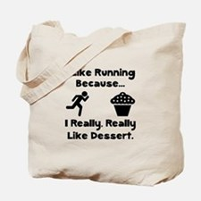 Running Dessert Tote Bag