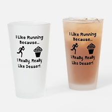 Running Dessert Drinking Glass