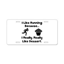 Running Dessert Aluminum License Plate