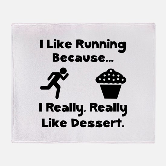 Running Dessert Throw Blanket