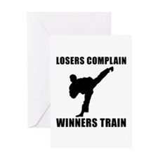 Martial Arts Winners Train Greeting Card