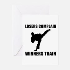 Martial Arts Winners Train Greeting Cards (Pk of 1