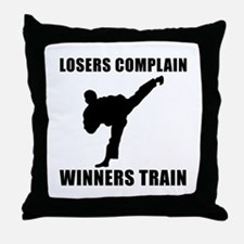 Martial Arts Winners Train Throw Pillow