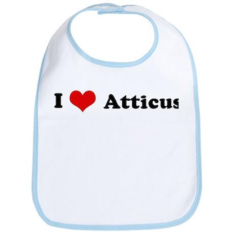 I Love Atticus Bib