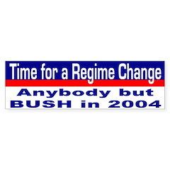 Time for Regime Change Bumper Bumper Sticker
