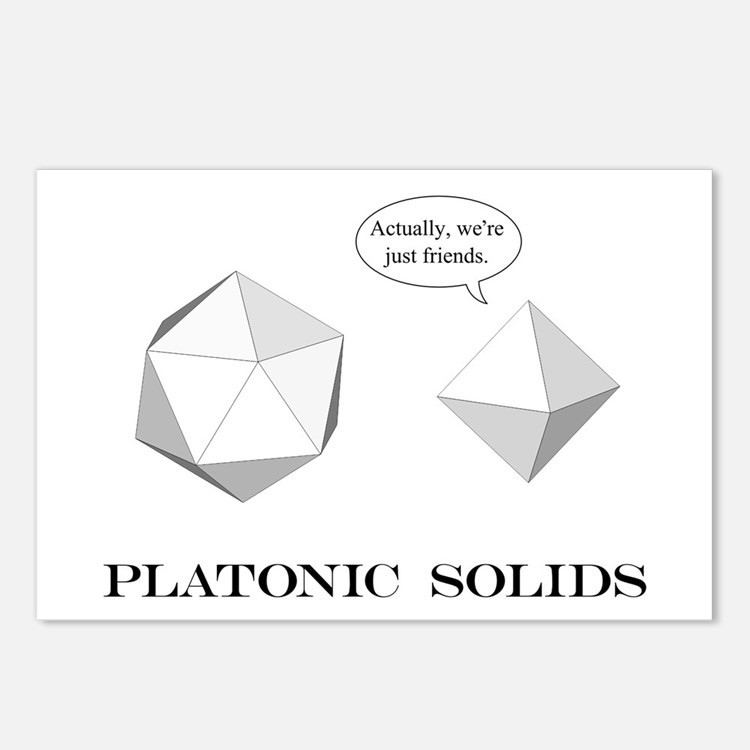 Platonic Solids Postcards (Package of 8)