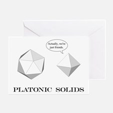 Platonic Solids Greeting Card