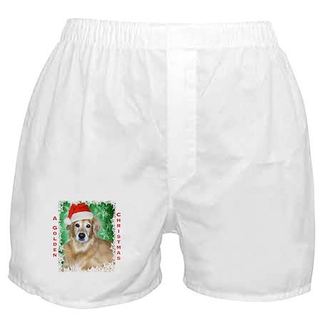 Golden Christmas Boxer Shorts