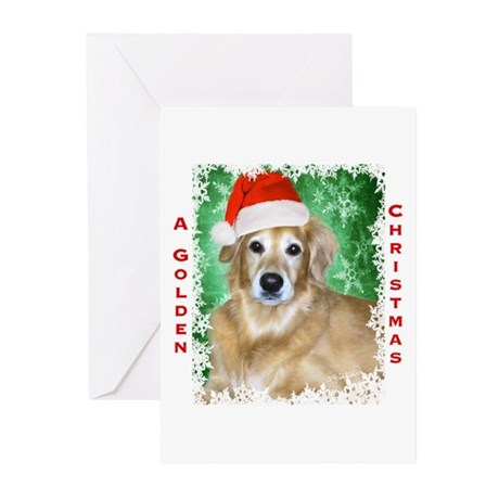 Golden Christmas Greeting Cards (Pk of 20)