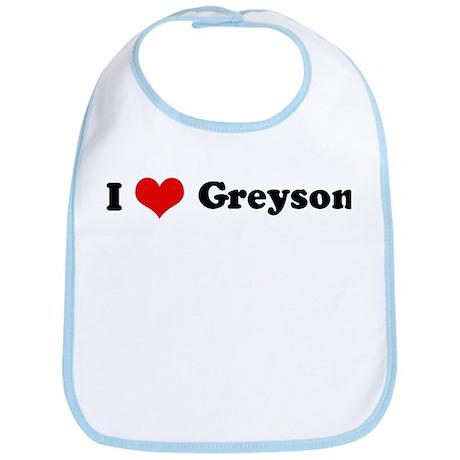 I Love Greyson Bib