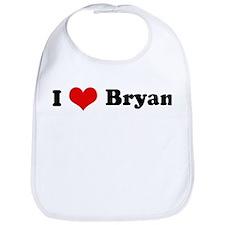 I Love Bryan Bib