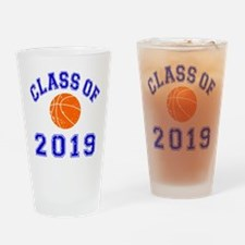 Class Of 2019 Basketball Drinking Glass