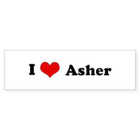I Love Asher Bumper Sticker