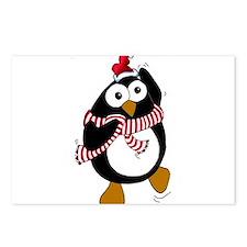 Cartoon Christmas Penguin dan Postcards (Package o