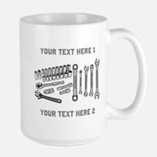 Wrenches with Text. Large Mug
