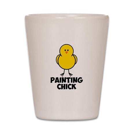Painting Chick Shot Glass
