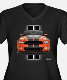 New Mustang GT Women's Plus Size V-Neck Dark T-Shi