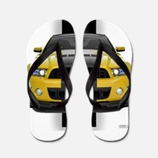 New Mustang GT Yellow Flip Flops