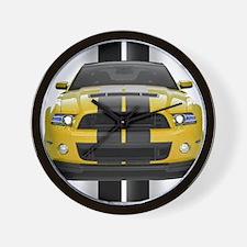 New Mustang GT Yellow Wall Clock