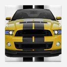 New Mustang GT Yellow Tile Coaster
