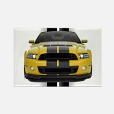 New Mustang GT Yellow Rectangle Magnet