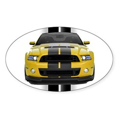 New Mustang GT Yellow Decal